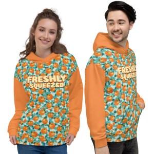 FRESHLY SQUEEZED Orange Tangerine and Eucalyptus Unisex Hoodie