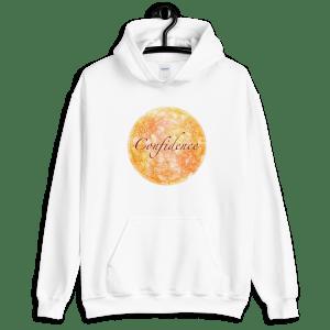 Confidence Yellow Mandala White Unisex Hoodie