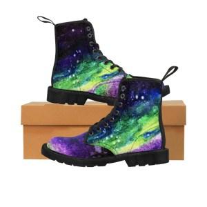 Watercolor Galaxy Artwork Print Women's Boots
