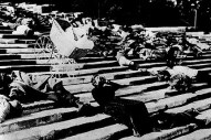 The baby carriage scene from the Battleship Potemkin, when czarist soldiers shoot at a peaceful rally.