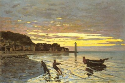 Claude Monet. Towing of a Boat at Honfleur