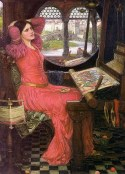 'I am half sick of shadows' said the Lady of Shalott, by John william Waterhouse, 1915. Property of the Art Gallery of Ontario