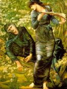 The Beguiling of Merlin by Sir Edward Coley Burne-Jones,1874. Property of Lady Lever Art Gallery, Port Sunlight.