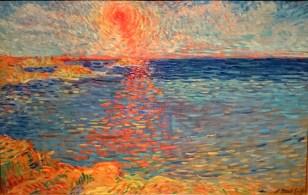 The few seconds of the orange sun