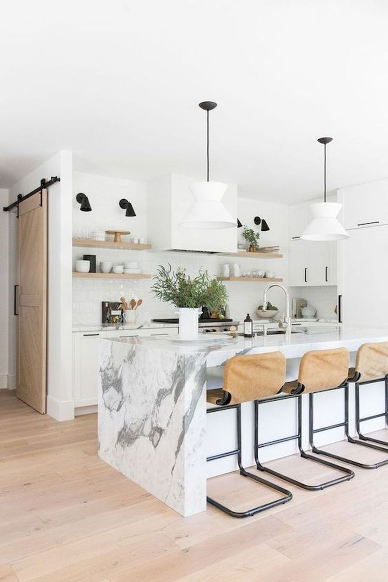 50 Beautiful White Kitchen Design Ideas (95)