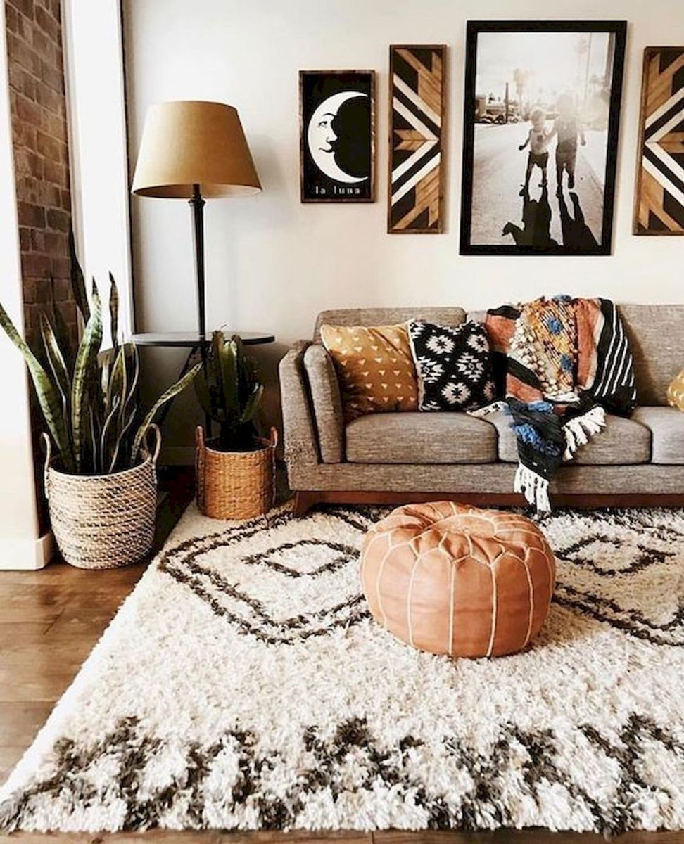 50 Best Living Room Decor Ideas With Artwork Rugs (49)