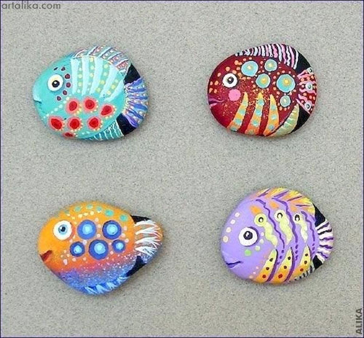 50 Easy DIY Painted Rocks Ideas Perfect For Beginners (9)