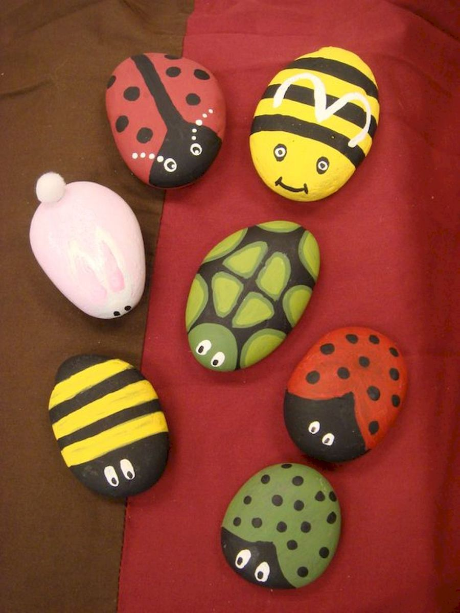 60 Fantastic Rock Painting Ideas For Kids (49)