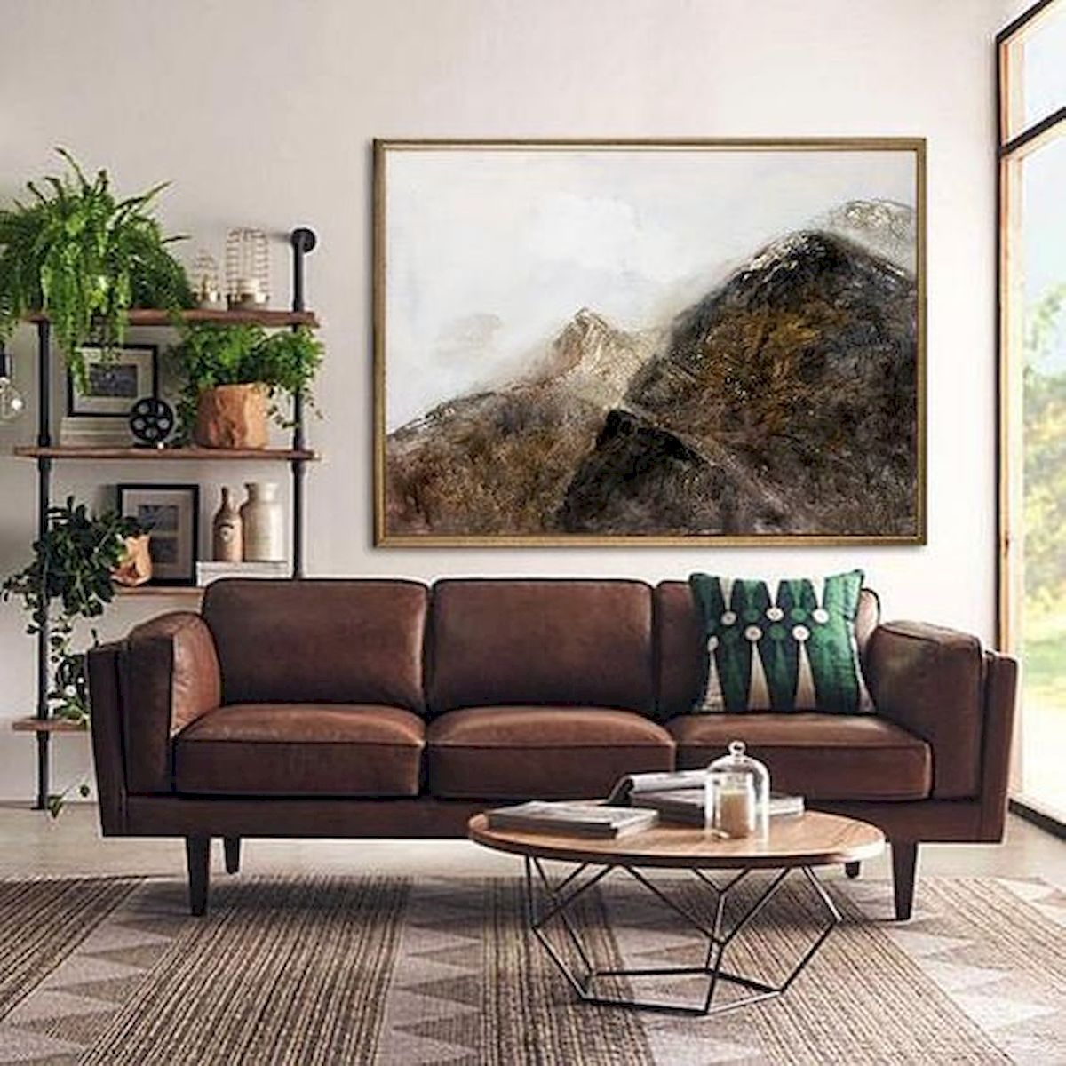 60 Living Room Decor Ideas With Artwork Coffee Tables (38)