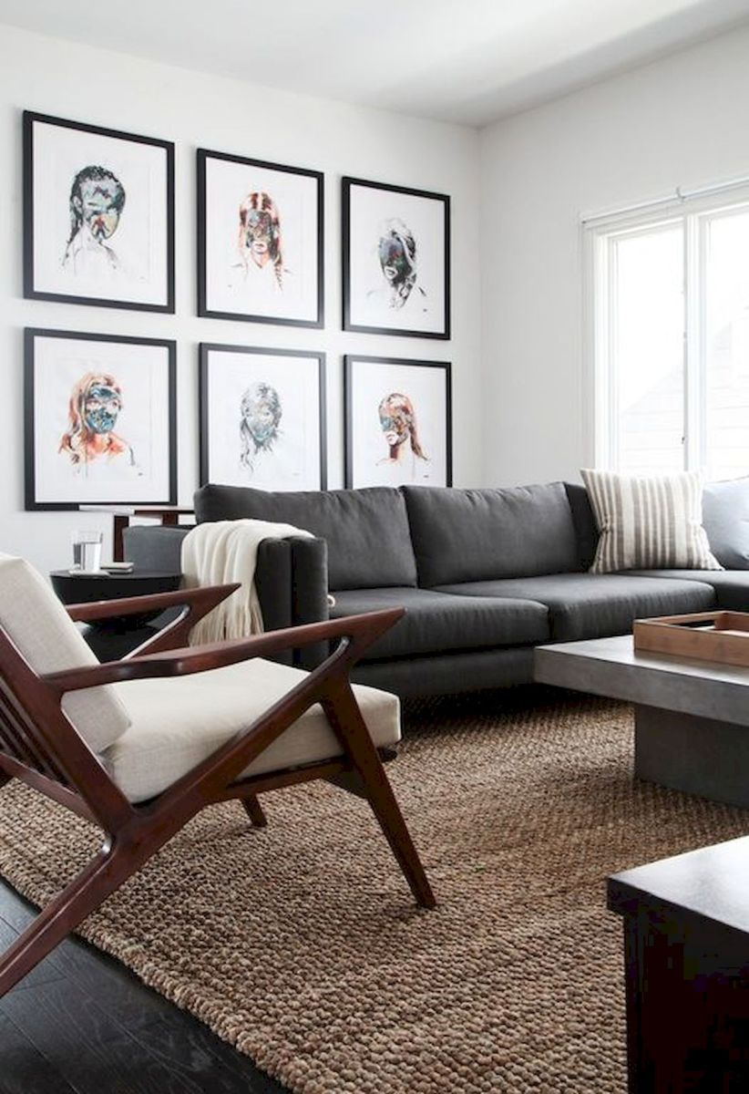 60 Living Room Decor Ideas With Artwork Coffee Tables (7)