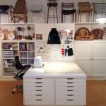 42 Amazing Craft Room Cabinets Decor Ideas and Design (32)