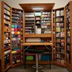42 Amazing Craft Room Cabinets Decor Ideas and Design (8)