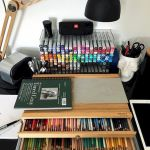 58 Fantastic Art Studio Organization Ideas and Decor (54)