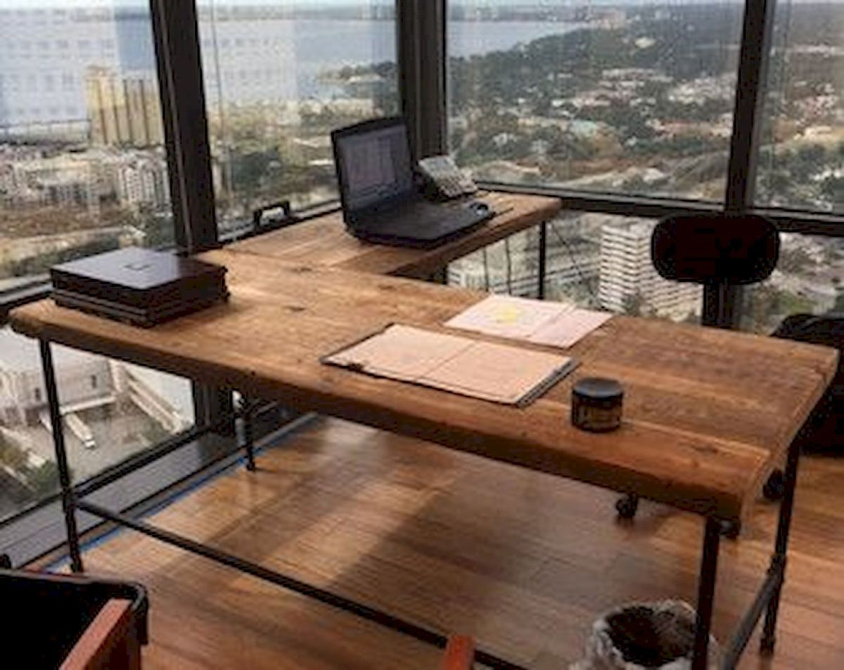 60 Best DIY Office Desk Design Ideas and Decor (33)