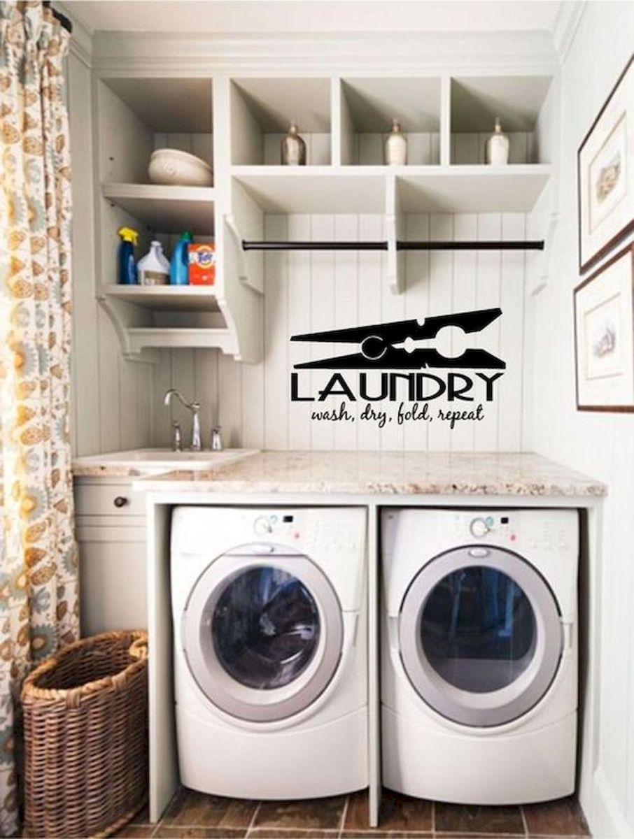 71 Favorite Laundry Room Storage Decor Ideas (67)