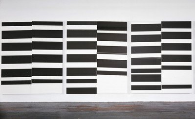 Exhibition view of Wade Guyton OS at the Whitney Museum of America Art