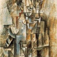 """Пабло Пикассо, """"Человек со скрипкой"""" (1912)"""