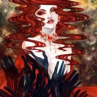 Нэн. «Ночь темна и полна ужасов» Иллюстрация из артбука «Рисуй острым концом»