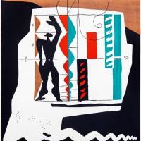 Ле Корбюзье. Человек модулора. 1956 год. Это изображение шестифутового человека с поднятой рукой было центральным для новаторской системы пропорций Ле Корбюзье.