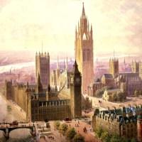 Проект «Императорские залы памятников и башня». 1904 год На рубеже XIX-XX веков городские власти Лондона решили, что Вестминстерское Аббатство переполнено памятниками. По задумке, все они должны были быть размещены в новых помещениях. Башня должна была стать самым высоким сооружением в Лондоне.