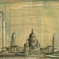 Проект многоэтажных зданий вокруг Собора святого Павла. Джозеф Эмбертон, 1946 год.