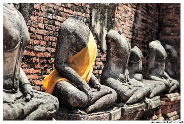 Beheaded Buddhas