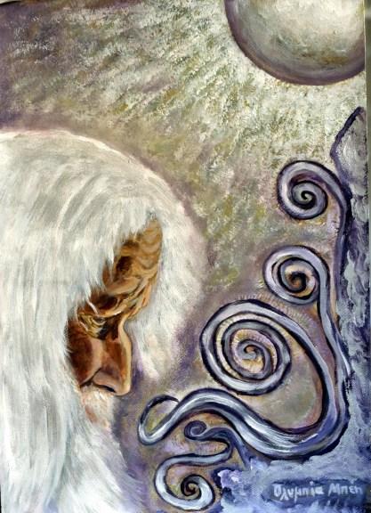 Elder (Acrylic on paper, 49X35 cm)