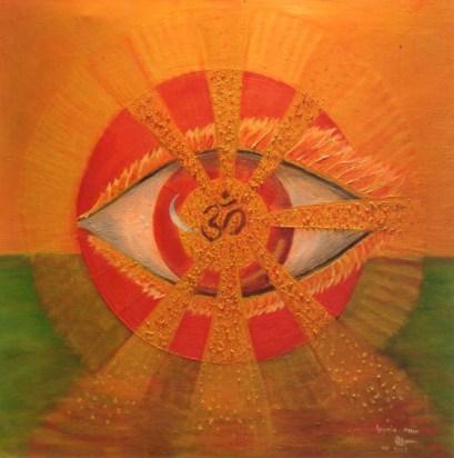 The Eye of Creation (Oil on canvas, 80X80 cm)