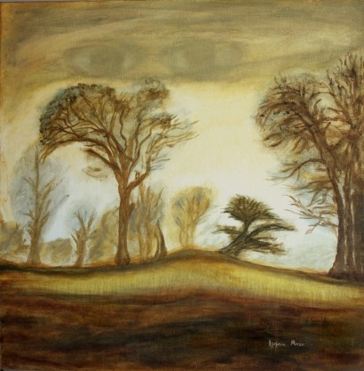 Landscape (Acrylic on canvas, 60Χ60 cm)