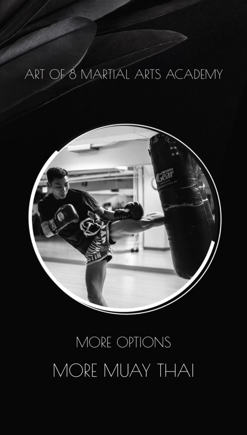 Art of 8 Martial Arts Academy is the first and only Muay Thai program in Orangeville. Learn the art of 8 limbs from a multiple time champion!
