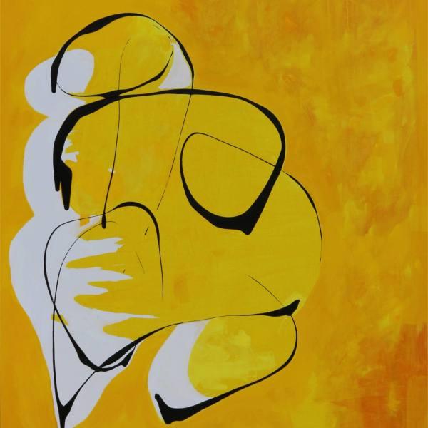 NIYOY nude in yellow on yellow by Dariusz Labuzek