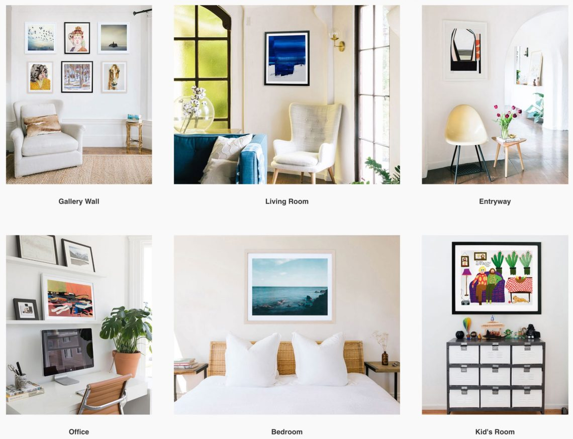 Limited by Saatchi Art — Shop By Room Examples