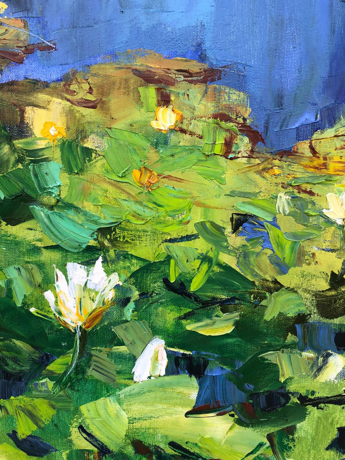Lily Pond with Palette Knife