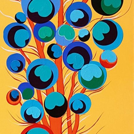Original Abstract Painting by Flo De Bretagne | Abstract Art on Canvas | The Peacock Tree