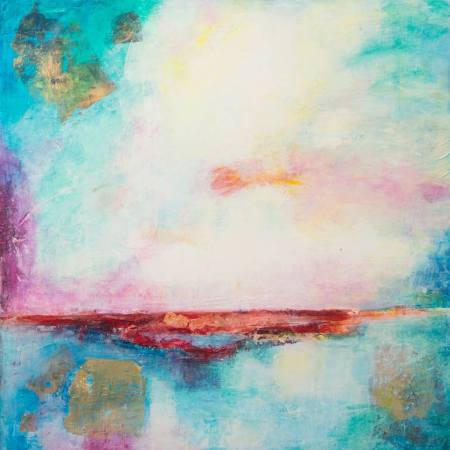 Original Abstract Painting by Ode Droit | Abstract Art on Canvas | Sun set light