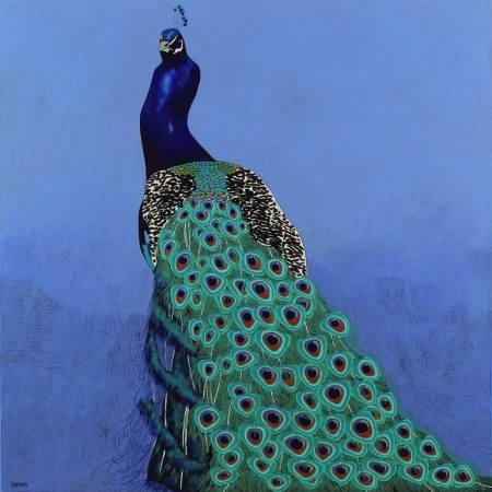 Original Animal Painting by Sophia Heeres | Abstract Art on Canvas | Feathers splendor