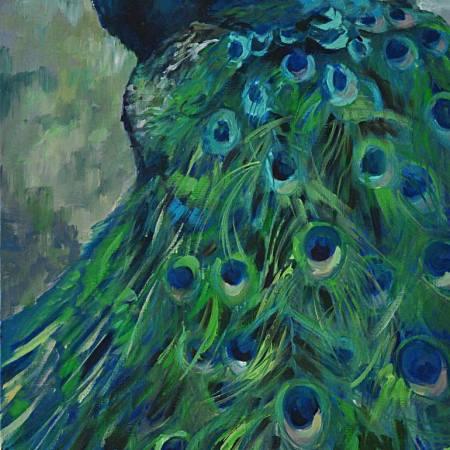 Original Animal Painting by Tetiana Korol | Fine Art Art on Canvas | PEACOCK