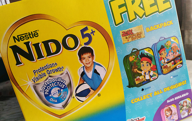 Buy NIDO 5+Milk and get a FREE Jake and the Never Land Pirates backpack!