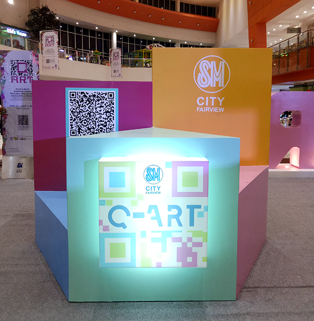 Scan and Enjoy Surprises at the Q Art Exhibit at SM City