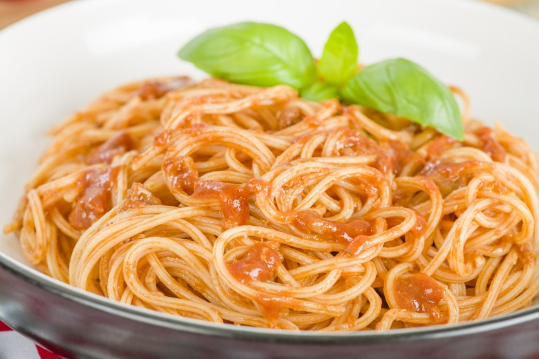 Spaghetti Bolognese - Italian pasta with bolognese sauce.