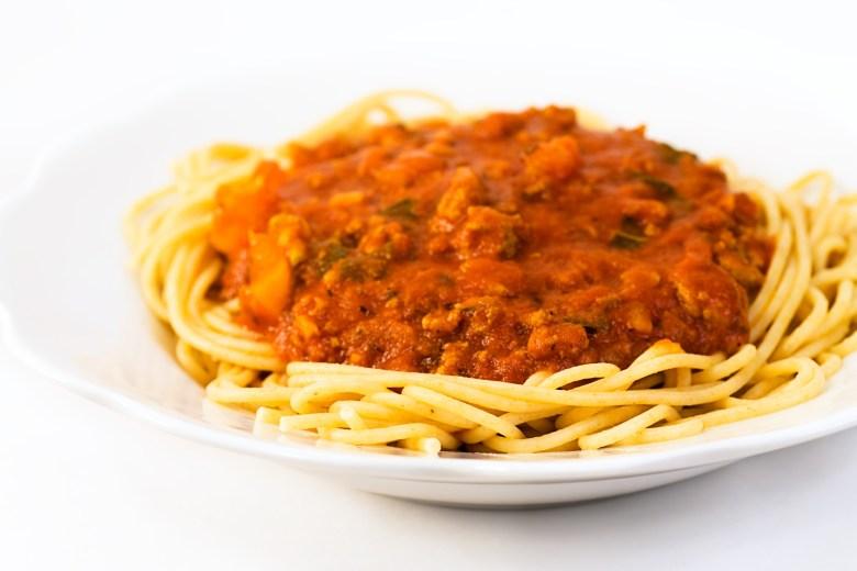 Whole Wheat Pasta and Spaghetti Sauce