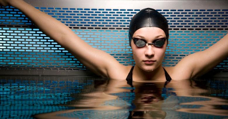 Portait of female swimmer