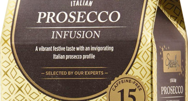 Prosecco infused tea