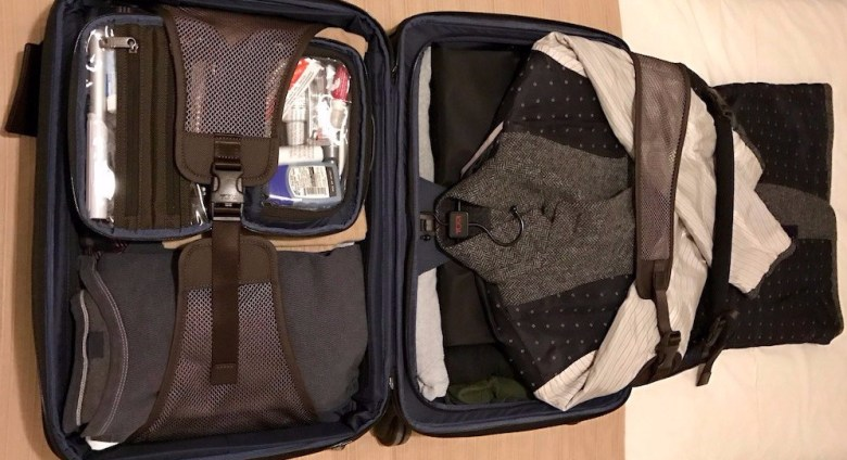 Tumi Carry-On Suit Bag Packed