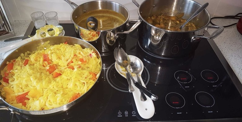 Curry Chowmein and Dhal