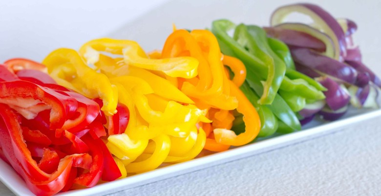 Sliced Bell Peppers - Diagonal