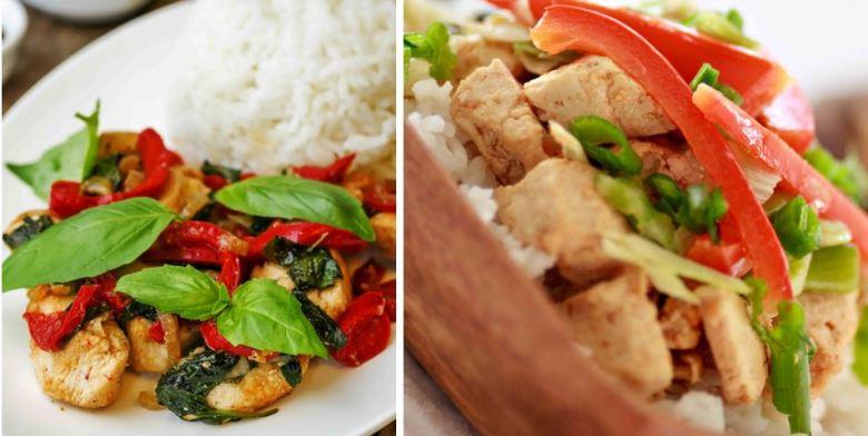 balsamic chicken and tofu