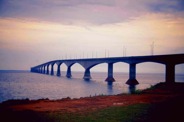 Confederation Bridge from New Brunswick to Prince Edward Island