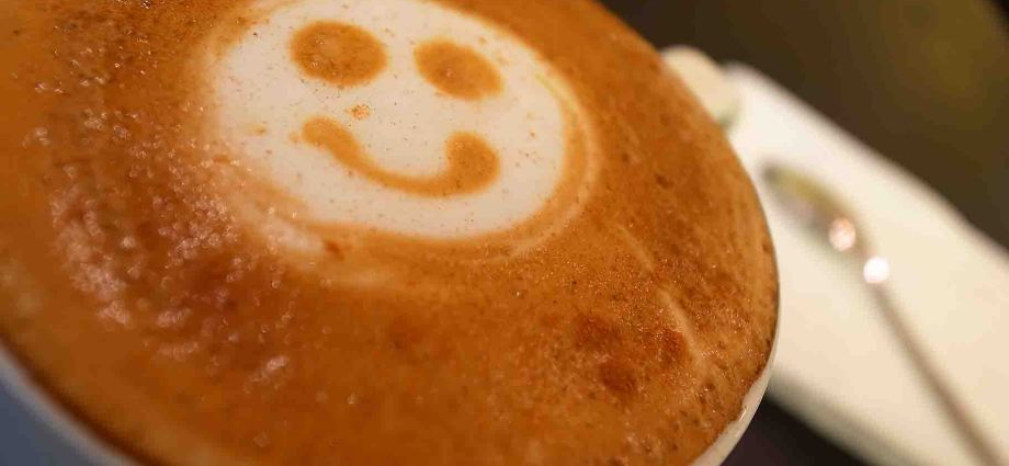 Smiley Face Coffee Art
