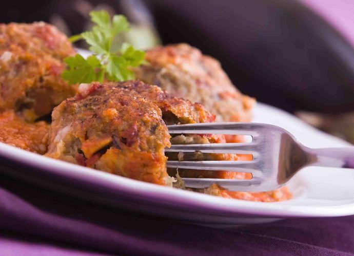 Eggplant kofta meatballs
